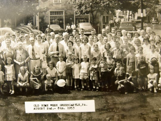 This is a copy of a 1953 photo of the Old Home Week