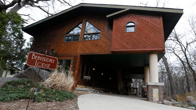 """Dubbed the """"Beaverdale Lodge,"""" this 2900-square-feet home is tucked away in a wooded area Tuesday, March 22, 2016, in the Beaverdale neighborhood in Des Moines."""