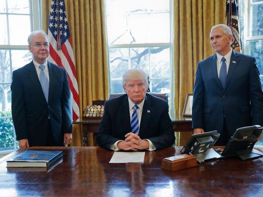 Donald Trump, Mike Pence Tom Price