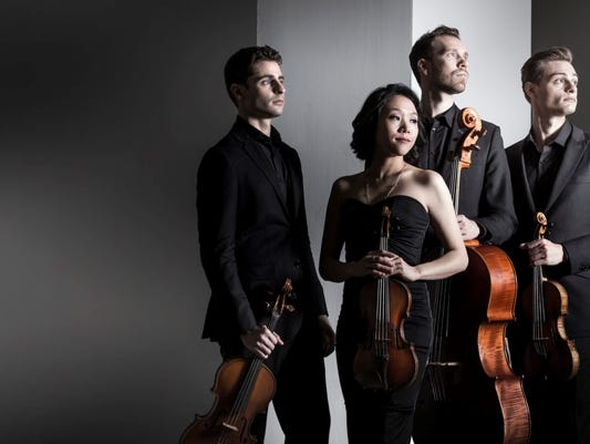 Come out to see the Tesla String Quartet perform live at The Greenville News.