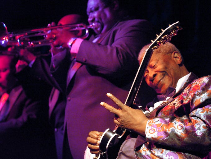 October 2, 2005 - B.B. King performs to a standing