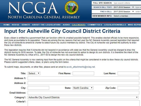 This is a screen shot of the form the state General