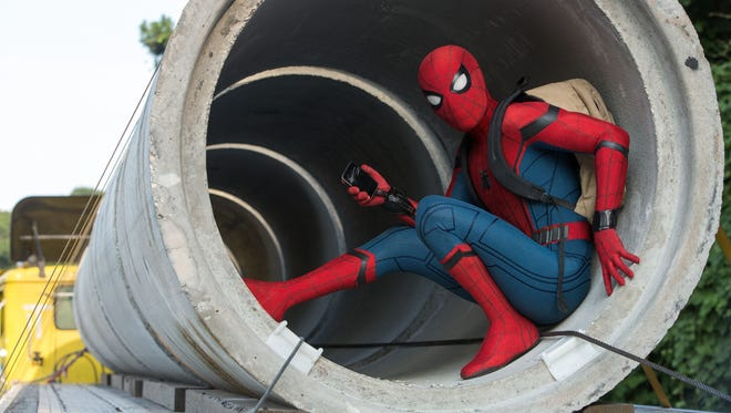 Tom Holland suits up as the title hero in 'Spider-Man: Homecoming.'