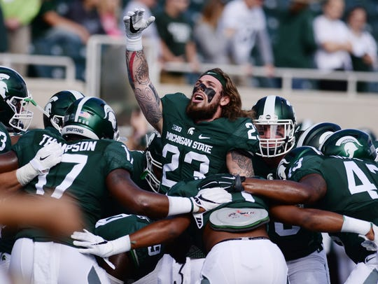 Linebacker Chris Frey (23), one of Michigan State's