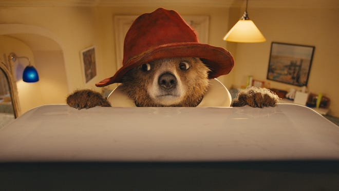 "Paddington, voiced by Colin Firth, is seen in a scene from ""Paddington."""