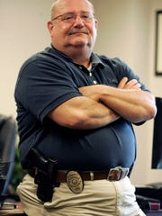 Smyrna Police Chief Kevin Arnold in his office Thursday, August 16, 2012.