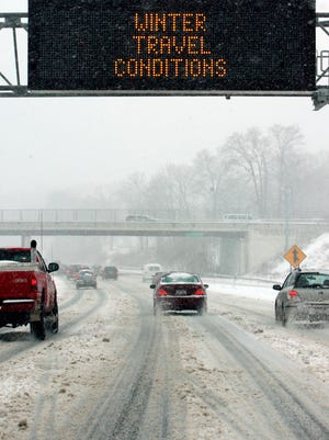 (file photo) drivers dealing with snowy conditions on I-287