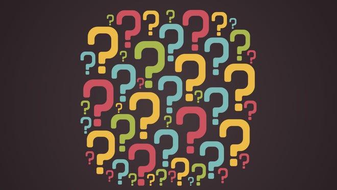 creative question mark bulb