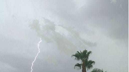 Thunderstorms in the Coachella Valley