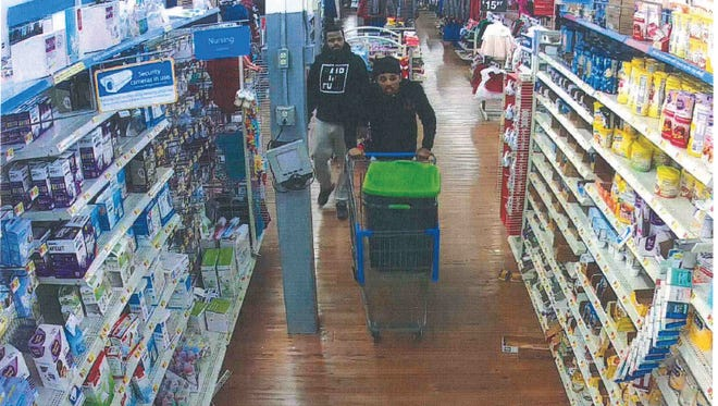 Authorities are looking for these two suspects in the theft of baby formula from Walmart in Upper Deerfield.