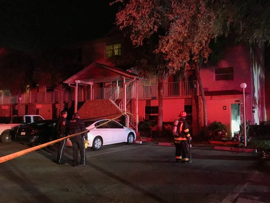 Fire strikes apartment in Rockledge on Sunday night.