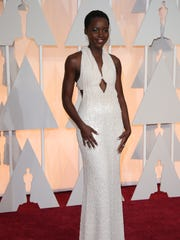 The Calving Klein Collection dress Lupita Nyong'o wore