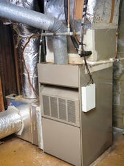 An old gas furnace.