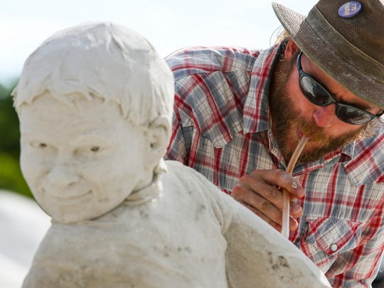 Abe Waterman of PEI, Canada, is a Master Sand Sculptor,