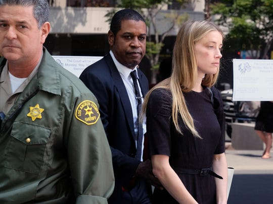 Amber Heard leaves Los Angeles Superior Court court