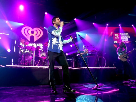 Adam Levine of Maroon 5 perform at the iHeartRadio