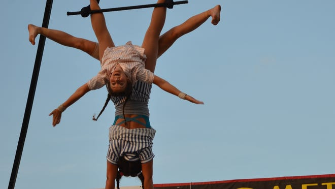 """Payomet's Cirque by the Sea team will perform """"Sandman: Drive-In Live Cirque Show"""" at the ballfield at Payomet Performing Arts Center in North Truro."""