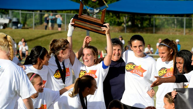 After shown here winning the Gulf South Conference championship last Sunday, the UWF women's soccer team enjoyed more thrills by advancing to the national round of 16 Sunday with an upset win against St. Leo in Dade City near Tampa.
