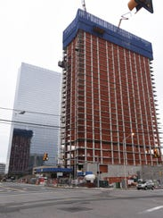 Construction continues on the second apartment tower