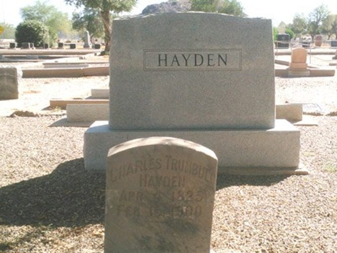 Charles Trumball Hayden is buried in Tempe Double Butte