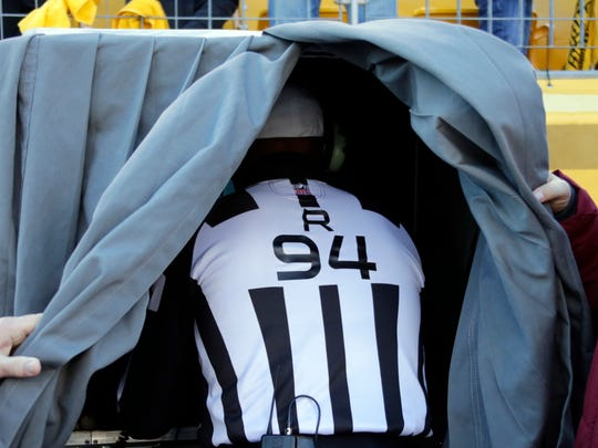 The days of the referee going under the hood may be
