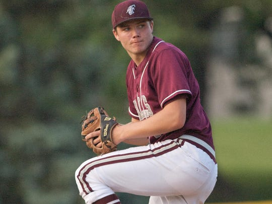 Menomonee Falls pitcher Ty Weber will be on the Indians' roster this postseason. Weber and his Falls teammates are aiming for back-to-back state titles.