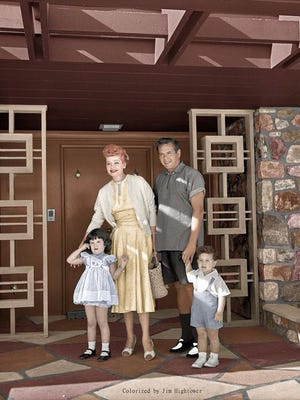 Arnaz Family at their Thunderbird home circa 1956, courtesy of Lucie Arnaz (All rights reserved).