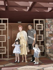 Arnaz Family at their Thunderbird Country Club home