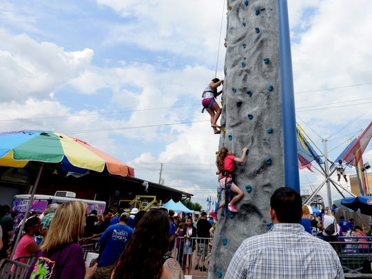 Rock climbing is one of many activities available at