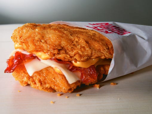 The KFC Double Down is available for a limited time starting Monday, April 21, according to its website.