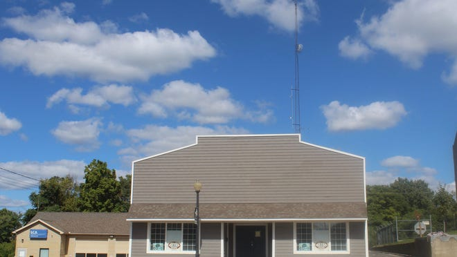 Radio station WLEN pictured Friday. The station's radio tower will be torn down and replaced in the next few weeks. During that time, the NOAA radio station will not be accessible. Residents are encouraged to sign up for another weather-based alert system.