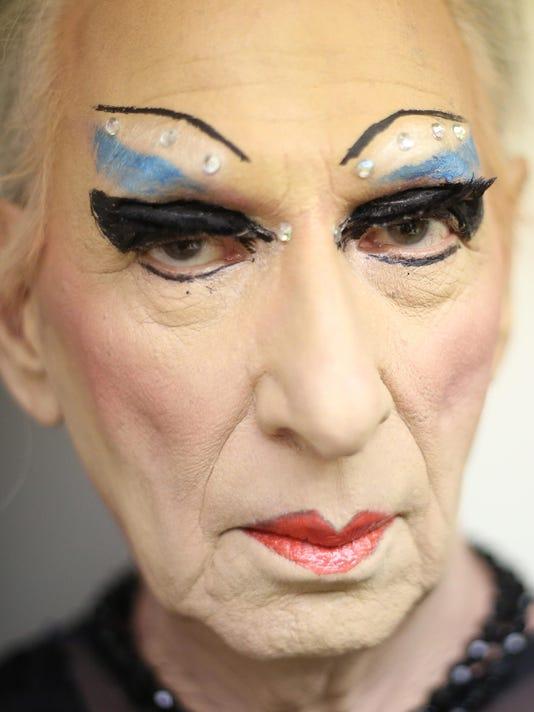 Gypsy 3 headshot in makeup