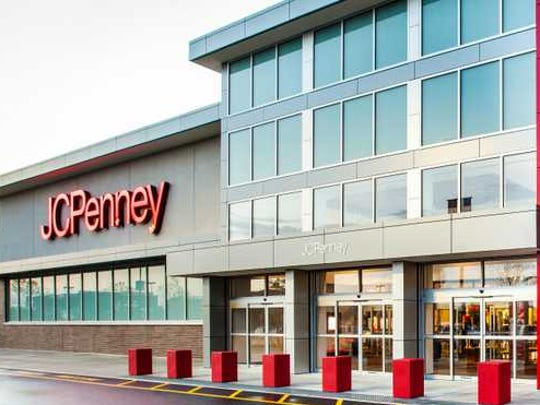 The extrerior of a J.C. Penney store