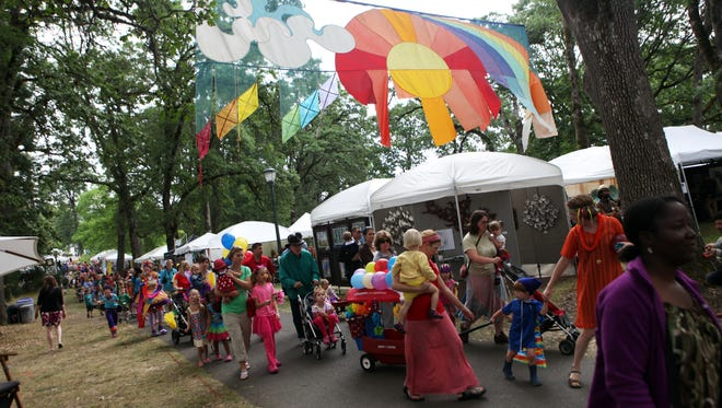 One of the biggest events of the summer, the annual Salem Art Fair and Festival at Bush's Pasture Park kicks off with the Children's Parade.