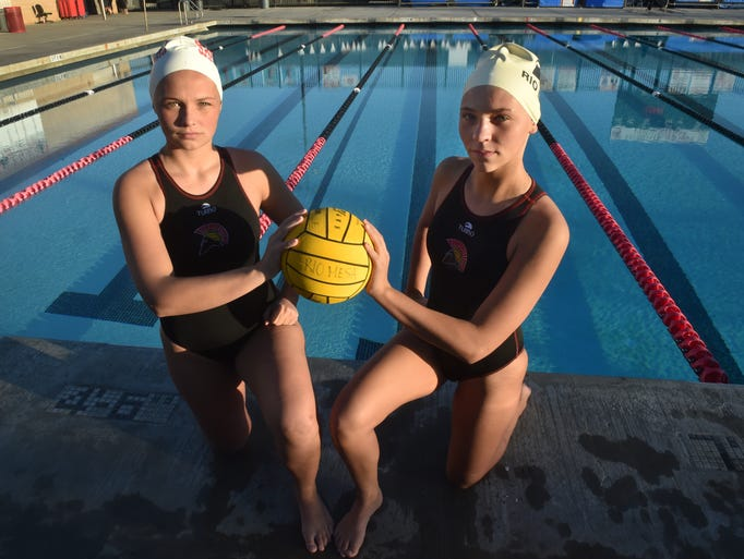 Anna Lowe, left, a junior, and sister Megan Lowe, a