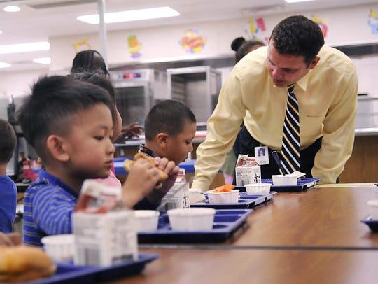 Westwood Elementary school principal Derek Branton