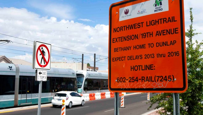 Work on the light-rail extension from Bethany Home Road to Dunlap Avenue along 19th Avenue won't be finished until 2015 or 2016, but planning is under way for a route farther west.