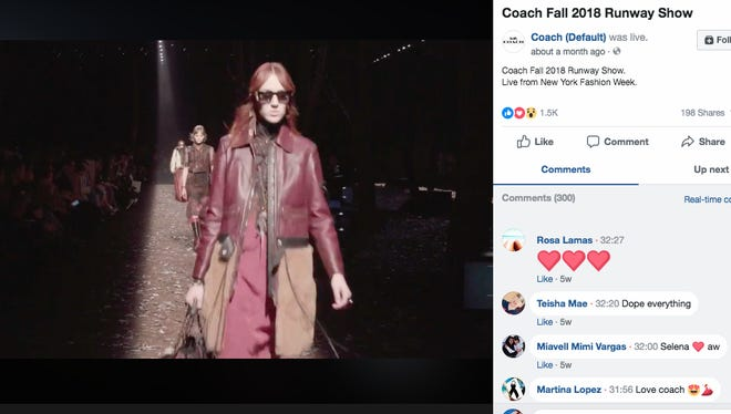 Coach streamed its February show during New York Fashion Week on Facebook Live and Instagram, then enabled viewers to go right to Coach.com to purchase its Dreamer handbag, available for a limited time.