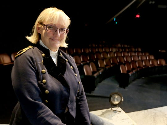 """Geri Sanders directed her first show at Pentacle Theatre in 2006. On opening night as she watched from the house, pictured here, she saw an unknown person appear and disappear on stage behind the actors. Her stage manager, who didn't believe in ghosts, was alone in the theater locking up after the show when she felt a warm sensation behind her and heard a female voice whisper, """"That was nice."""" Sanders attributes the inexplicable events to """"Sheila,"""" Pentacle's ghost."""