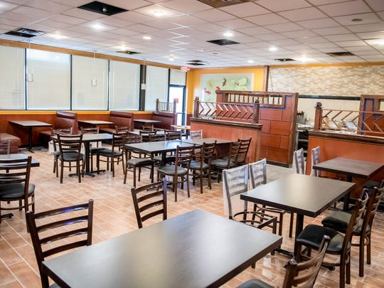 Some of the seating at Asian Buffet Hibachi Grill in Battle Creek. Asian Buffet Hibachi Grill in Battle Creek. The restaurant, which comfortably seats more than 300 people, is scheduled to open next week.