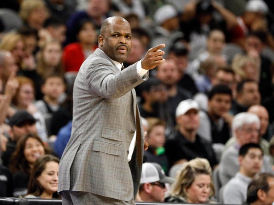 Indiana Pacers head coach Nate McMillan gives direction