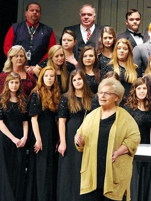 Dickson County High Choral Director Cindy Freeman during a large reunion of her former students last year.