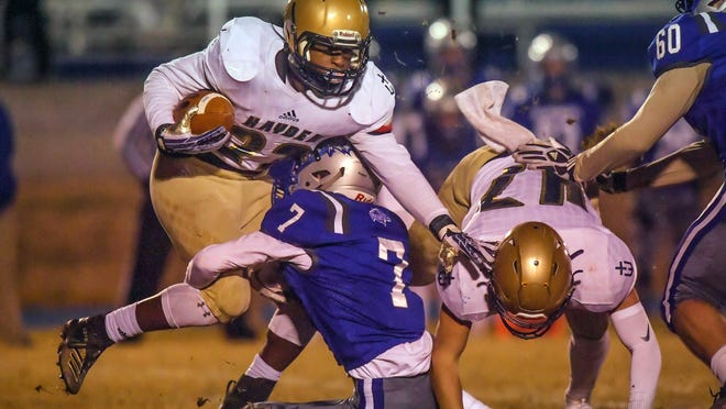 Hayden's Desmond Purnell has been invited to the Kansas Shrine Bowl. Purnell was the lone selection from Topeka for the East squad.