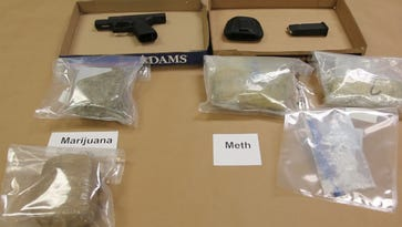 Three people were arrested Thursday, Sept.22, for illegal possession of meth, marijuana and a gun.