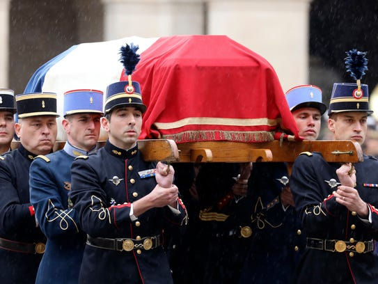 French Republican Guards and cadets from the joint-army