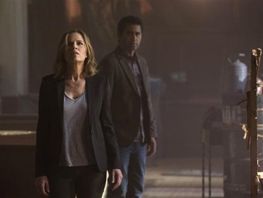 "This photo provided by AMC shows, Kim Dickens in a scene from ""Fear the Walking Dead."""