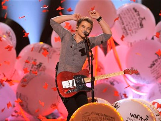 Hunter Hayes performs in April at the 48th Annual Academy of Country Music Awards at the MGM Grand Garden Arena in Las Vegas.
