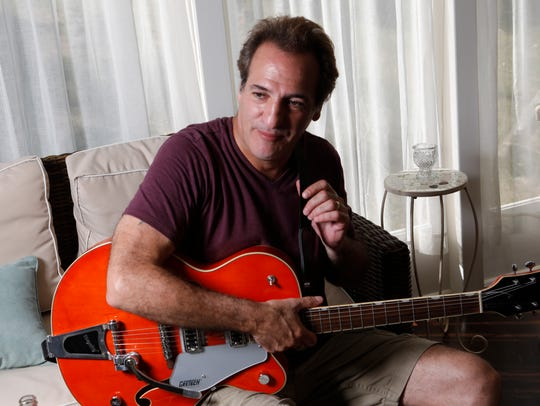 Guitarist Tommy Byrnes in his home in Millbrook on