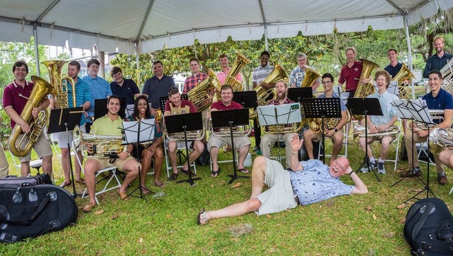 Last Saturday, 100 or so of Paul Ebbers' family, friends, colleagues, current and former students joined together to celebrate his legacy of 38 years, enjoying a lunch under tents catered by Mission BBQ and Who Cooks for You LLC.