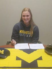 Morgan Overaitis recently signed to play softball at
